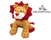 LION Toy Sewing Pattern -  Plush PDF Pattern