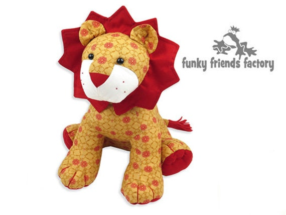 LION Toy Sewing Pattern -  Plush PDF Pattern