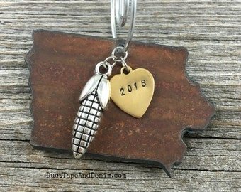 IOWA Christmas Ornament SMALL, Iowa Ornament, Christmas Gifts 2017, Personalized Gift, State Christmas Ornaments, IOWA Ornaments