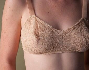 coming soon - 1920s soustache lace bra / 000t