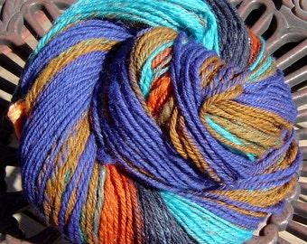 CANYON Handspun Self Striping Yarn 326 yds Merino Wool Angelina Made from a LOOP Bullseye Batt Southwestern Colors