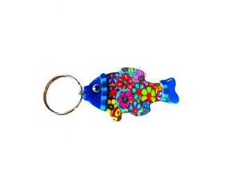 Fish key chain, key chain, keychain, key holder, unique key chain, bag decorate,key chain for woman,cute key chain, fish keychain,fish decor