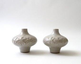 SUMMER SALE Robert Maxwell Ceramic Vase Set of 2  California Modern Weed Pot