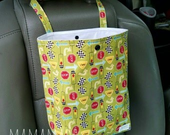 Stop and Go (green) - Reusable Auto Trash Bag from green by mamamade