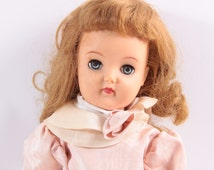 """Ideal Ruth Doll V92 - Rare! Dress 19"""" With Dress, shoes, socks, panties, bow 1950s"""