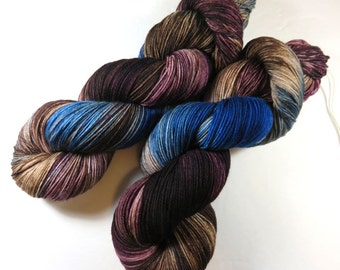 Hand Painted 4-Ply Superwash Merino and Nylon Sock -- Doctor Who: Mad Man With a Box