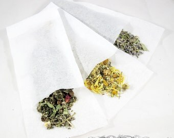 Five Empty Paper Filters for Teas and Rinses