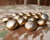 Edwardian Era Hand Painted Shank Buttons