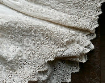Antique Broderie Anglaise Christening Gown