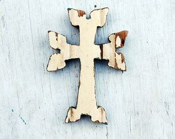 Wooden Cross, Armenian Cross, Religious Wall Decor, Wood Wall Cross, Christening Cross, Nursery Decor, Reclaimed Wood Cross, Religious Decor