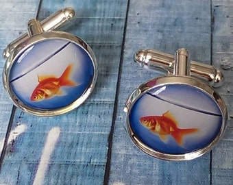 Goldfish Bowl Cufflinks
