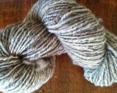 Kiwi Grey. New Zealand Perendale sheep wool handspun natural fleece yarn 2 ply fiber knitting crochet