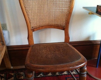 Antique Vintage Birthing Chair Wood 19th Century American historic furniture Gift for new Mother or Mother's Day