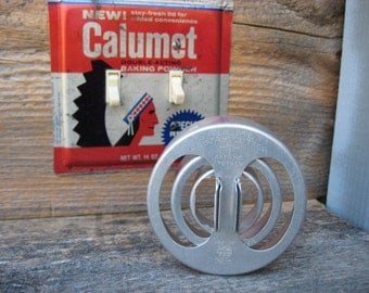 Vintage Calumet Pastry Biscuit Cookie Cutters Set Of 3 Aluminum Metal Round Antique Collectible Kitchenware Three Pieces Cutter ONLY