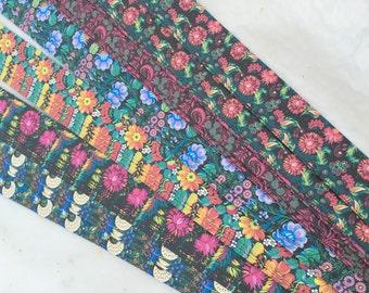 """3/4"""" Weaving Star Paper~ Russian Folk Art Prints ~Black (50 strips)"""