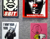 4-piece vinyl sticker pack
