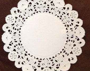 """5"""" Brooklace vintage Paper lace Doilies Doily white fancy Lace Qty 100's great for stamping"""