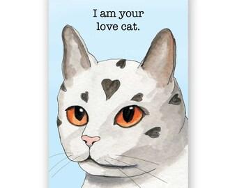 Love Cat - Magnet - Humor - Gift - Stocking Stuffer