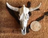 Take the Bull by the Horns Giant High Fired Ceramic Bull Skull Pendant