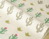 Japanese Fabric Cactus Flowers - cream - 50cm