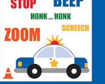 Traffic Jam Beverage Napkins-Set of 16~2 ply NEW