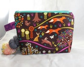 Enchanting Forest zippy bag by AnniePurl