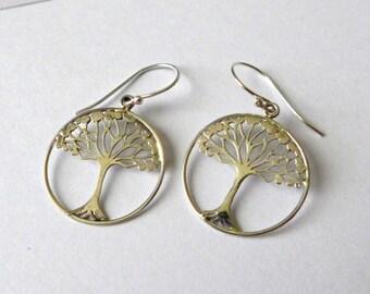 Tree of Life sterling silver earrings AE27