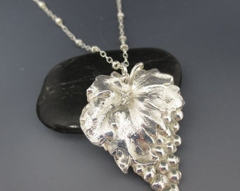 Fine Silver Grapes Necklace