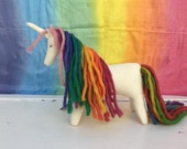 Wool Felt Natural Rainbow Wild Pony Horse Unicorn