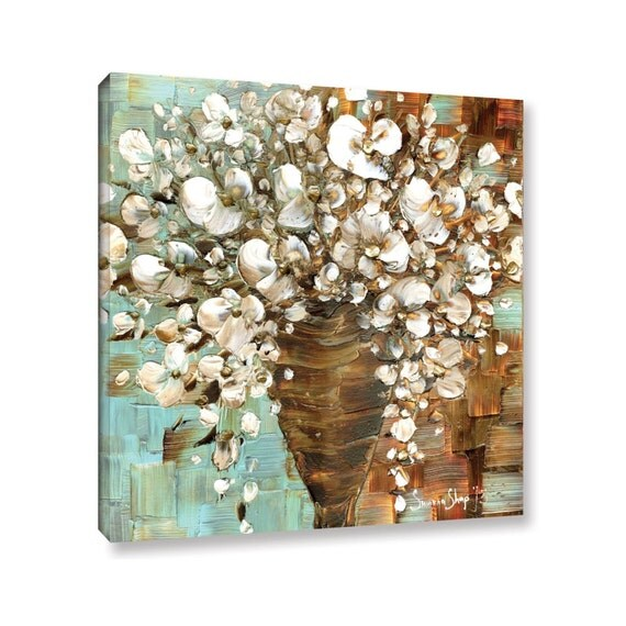 modern floral wall decor wall art decor canvas cottage chic wedding gift christmas gift gift for mom gift for her mother of the bride gift