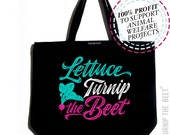 lettuce turnip the beet ® trademark brand OFFICIAL SITE - large canvas tote bag - farmers market - yoga - CSA - barre - vegan - gardening
