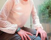 Lace cotton blouse