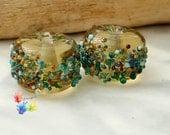 Lampwork Beads Sandy Beachcomber Pair