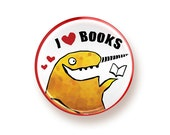 I heart Books - round magnet