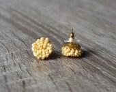 light beige stud earrings - nude studs