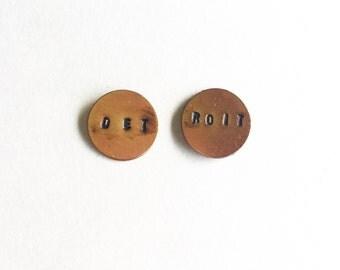 Detroit Stamped Earrings
