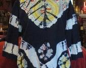 SALE India Bohemian Gypsy Tie Dye Cotton Blouse Top One Size
