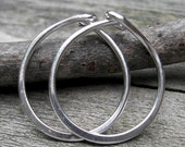 20% OFF TODAY Sterling Silver Hoops ... 1/2 inch