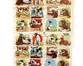 Vintage Dog and Cat Animal Scrap Full Sheet EAS 3038