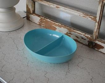 Vintage Melmac Divided Serving Bowl Dish