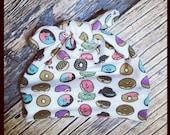 RockerByeBeanies donut doughnut Newborn Baby knit skull cap hat beanie white green brown blue pink aqua boy or girl