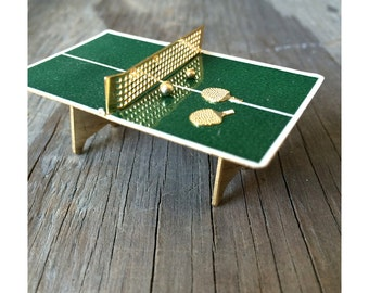 Miniature Ping Pong Table - Vintage Ping Pong