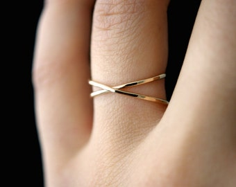 Gold X ring, gold criss cross ring, wrapped gold ring, gold x ring, gold cross ring, gold cross ring, criss cross ring, x ring