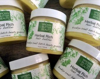 Herbal Hair Butter | Natural Hair Pomade| Skin Salve | Organic Herbal lngredients