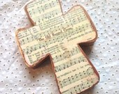The Old Rugged Cross Wood Hymnal Cross MADE TO ORDER