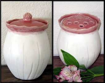 Seed Pod Series - Vase - Flower Frog - Jar - Hand Thrown Stoneware Pottery - Ready to Ship