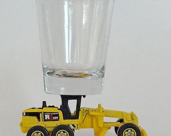 the Original Hot Shot shot glass, Ground Grinder, Earth Mover, Construction, Matchbox