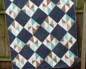 Elementary Twin Sized Quilt Blanket Throw