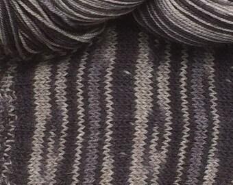 "BRAND NEW!  Superwash wool, Yak, nylon blend self striping sock yarn - colorway:  ""Tabby Cat"""