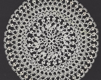 "Vintage / Doily / 6 1/4"" Diameter / Mother's Day"